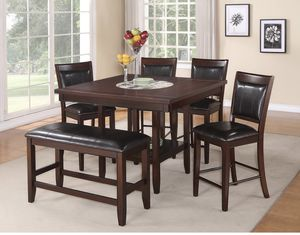 Dining table set counter height 6 pcs for Sale in Huntington Beach, CA