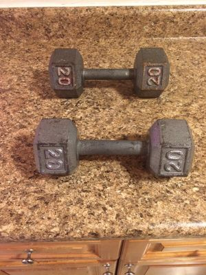 2 20 pounds dumbbells for Sale in Bronx, NY
