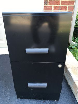 Black filing cabinet for Sale in Chantilly, VA