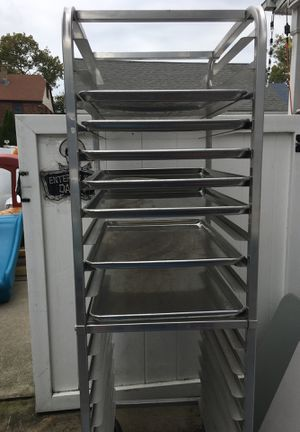 Industrial baking rack with 7 trays for Sale in East Williston, NY