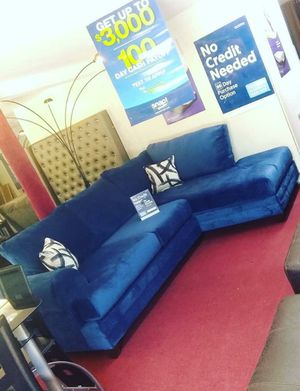 Brand new Groovy Blue RAF Sectional& &Couch & Living room set & Sofa for Sale in Houston, TX