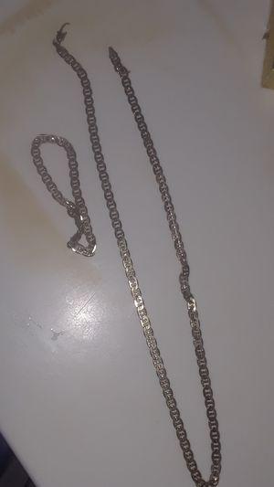 *READ POST*14k Anchor Link bracelet/chain Set for Sale in Atlanta, GA