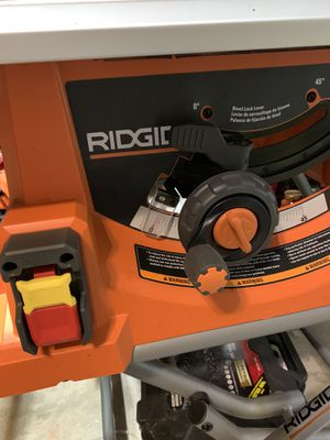 ridgid 10 inch table saw with stand for Sale in League City, TX