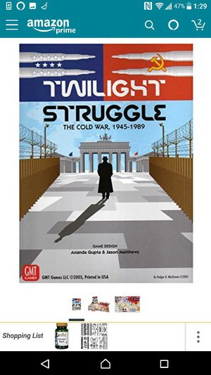 Twilight struggle deluxe edition board game for Sale in Houston, TX