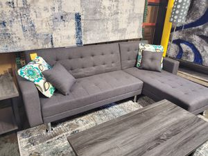 Fabric Sectional Sofa Bed, Gray for Sale in Santa Ana, CA