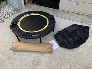 Trampoline swing I'll leave unless you have an extra leg for this trampoline missing one leg good for a swing though for Sale in Palm Harbor, FL