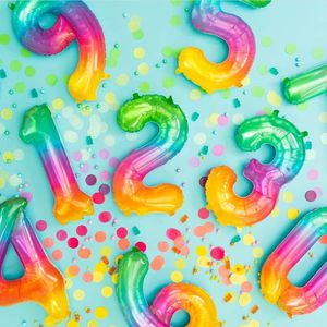 Jelli Balloon Numbers 🎈 Balloons Rainbow Party for Sale in Hollywood, FL