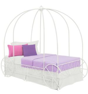 Metal Twin Princess Carriage Bed Frame for Sale in St. Louis, MO