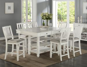 7-pcs dining table on sale @Elegant Furniture 🎈🛋🛏 for Sale in Fresno, CA