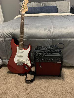 Fender Stratocaster, amp 20v, electric guitar, guitar setup for Sale in Sandy, OR