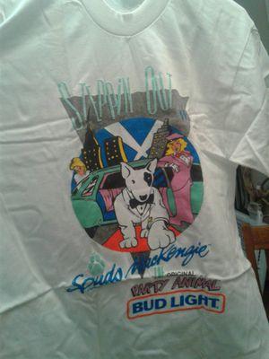Vintage bud light spuds Mackenzie t-shirt size L 42-44 brand new never worn MAKE OFFER! for Sale in Saint Joseph, MO