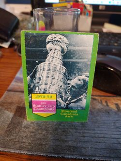 1972 73 Stanley Cup Canadiens Card for Sale in Griffith,  IN
