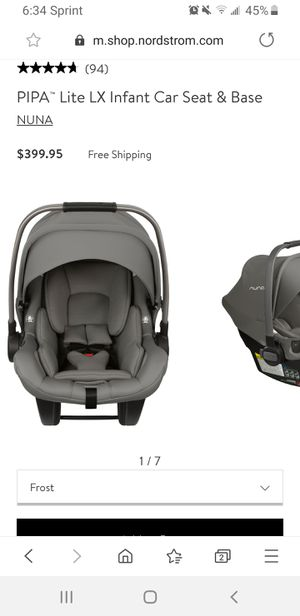 Nuna PIPA lite car seat with extra inserts and base for Sale in Houston, TX