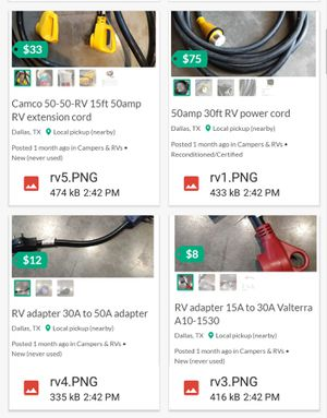 RV accessories bulk package. Over $300 worth for Sale in Dallas, TX