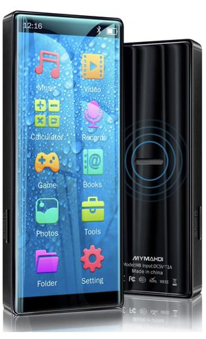 Brand New MP3 Player with Bluetooth 5.0, High Resolution and Full Touch Screen, Built-in Speaker, 8GB HiFi Lossless Sound Player with FM Radio, Voice for Sale in Hayward, CA