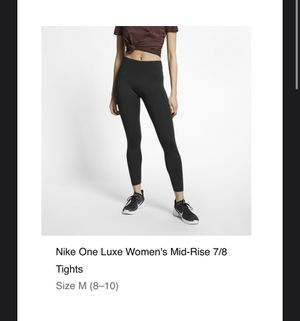 BRAND NEW Nike One Luxe Women's Mod-Rise 7/8 Tights WITH TAGS- Medium for Sale in Beaverton, OR