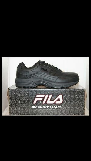 Mens size 11 Fila Memory Foam Workshift STEEL TOE Slip Resistant Work Shoes Black for Sale in San Fernando, CA