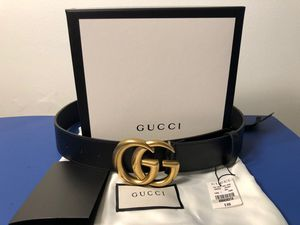 "NWT 1.5"" Gucci Marmont Double G Brass Buckle Belt for Sale in Philadelphia, PA"