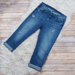 Michael Kors | Distressed Denim Cropped Jeans- SZ 6 for Sale in Las Vegas, NV