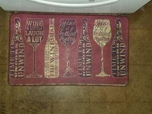 Wine kitchen mat for Sale in San Antonio, TX