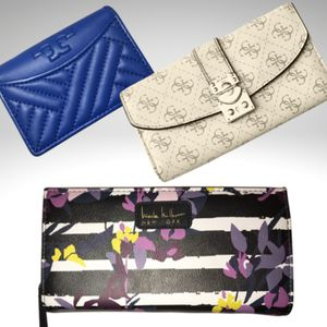 Nicole Miller wallet, gas wallet, and blue leather wallet from Nordstrom cannot find designer name. for Sale in Gilbert, AZ