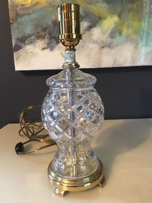Led Cut Crystal Lamp for Sale in Redmond, WA