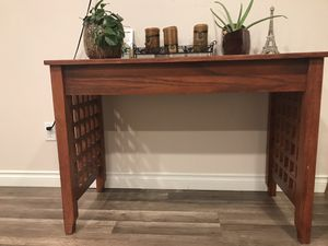 Wooden table 3 1/2 x 20 you can use as a console table or as a desk. for Sale in Portland, OR
