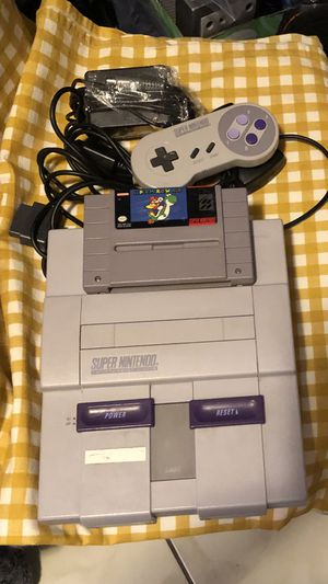 Super Nintendo complete with 1 game for Sale in Tampa, FL