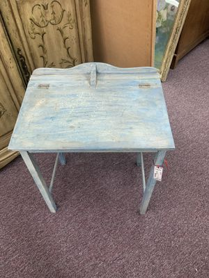 Vintage blue painted students desk for Sale in Huntington Beach, CA