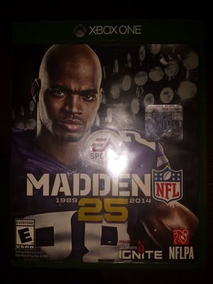 New madden 25th Anniversary Xbox one game for Sale in US