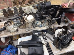 If u need OMC outdrive parts I've got them! I have one complete outdrive unit that worked outstanding when I took off boat and disassembled to paint for Sale in San Diego, CA