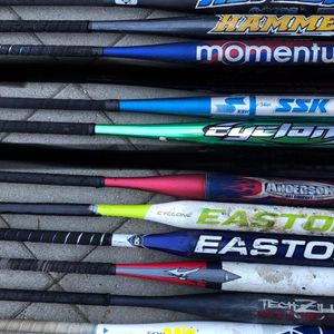 Softball bats easton gloves equipment bats $25 for Sale in Los Angeles, CA
