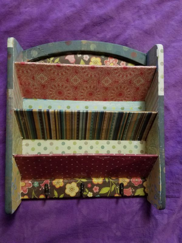 Modge Podge Mail Organizer With Three Hooks For Sale In