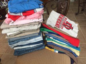 35 piece clothes lot. 27 pr men's shorts, 1 pr men's jeans, 2 dresses, 3 pr women's shorts, sweatshirt, jacket. Various sizes. for Sale in Smyrna, TN
