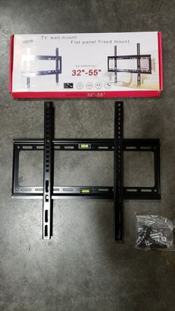 NEW universal LCD LED Plasma Flat Fixed TV Wall Mount stand bracket fits 32 to 55 inch tv sizes television bracket 100 lbs capacity for Sale in Whittier,  CA
