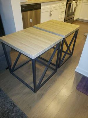 Moving sale! Gorgeous end tables only $60 for both! for Sale in Santa Clara, CA
