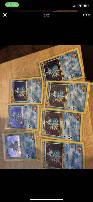 NM PRERELEASE Pokemon MISTY'S SEADRA Card GYM HERO Set 9/132 PROMO Stamped Holo for Sale in Lathrop, CA