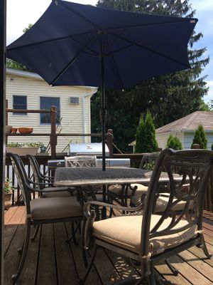 Macy's Chateau outdoor aluminum 7 piece patio dinning set. for Sale in Maywood, NJ