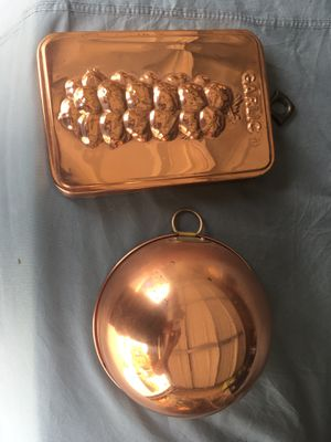 Copper bowl and copper plated garlic mold pan for Sale in Spring Valley, CA