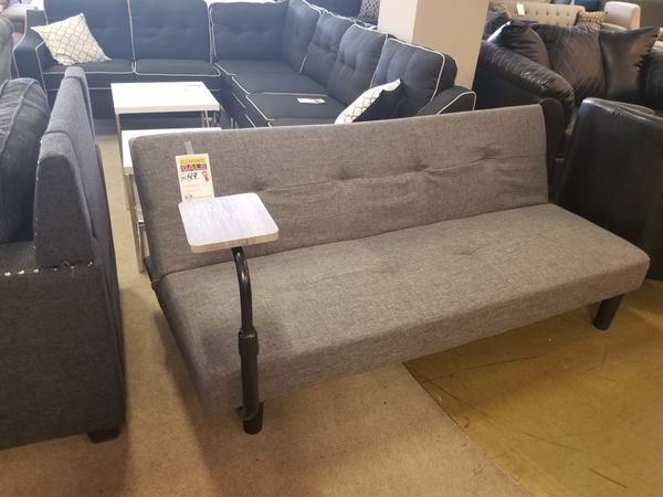 Grey Futon with side Table