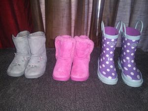 3 pairs size 10 toddler girl boots for Sale in Wilmington, NC