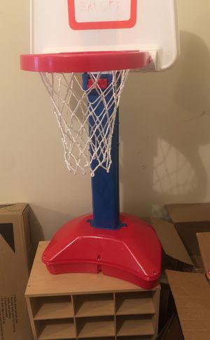 Basketball hoop adjustable used a few times with ball must sell today for Sale in Norcross, GA