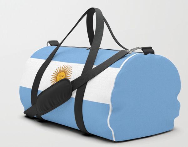 Handmade Argentinian Flag Duffle Bag