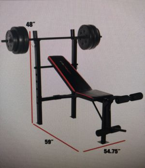 CAP Strength Standard Combo Bench with 100 lb Weight Set Home Gym Equipment NEW IN BOX for Sale in Arlington, VA