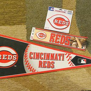 Cincinnati Reds sports memorabilia flag/decals for Sale in Chandler, AZ