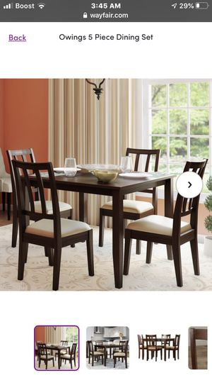 Brand new in box dining room table and 4 chairs for Sale in Neodesha, KS
