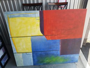 Modern abstract art canvas piece print for Sale in Kissimmee, FL