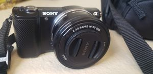 Sony Alpha a5000 Mirrorless Digital Camera with 16-50mm OSS Lens (Black) plus with 55-210mm F4.5-6.3 Lens for Sale in Albuquerque, NM