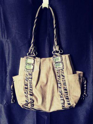 Kathy Van Zeeland Animal Print Jeweled Drawstring tote handbag purse for Sale in Baltimore, MD