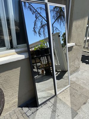 """White/Black Mirror 49.5"""" x 13.5"""" Can deliver San Diego county $5-$10 for Sale in San Diego, CA"""